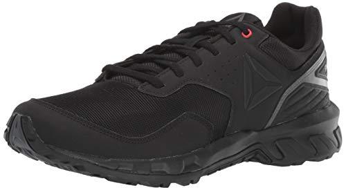 Reebok Men's Ridgerider Trail 4.0 Walking Shoe, Black/Grey/red, 10.5 M US