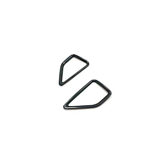 Consola Central del Coche Decoración Compatible con Skoda Karoq 2017 2018 Acero Inoxidable Negro/Azul/Matte Dashboard de Aire Outlet Marco de ventilación Accesorios de Ajuste 2pcs Recortar la cubi