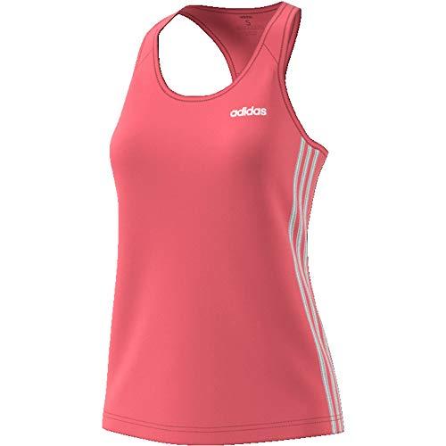 adidas W D2M 3S Tank Camiseta De Tirantes, Mujer, rosfel/Blanco, XS
