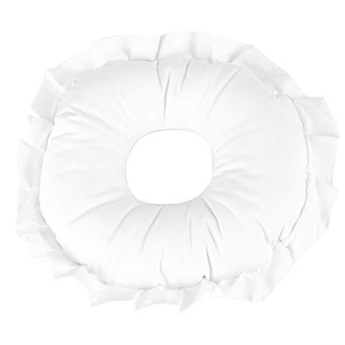 Kussen voor rust, gezicht, van polyester, kussen Relax Spa, massagestoel voor uste, badkussen gemaakt van microvezel, waterdicht ontwerp, voor ontspanning (wit)