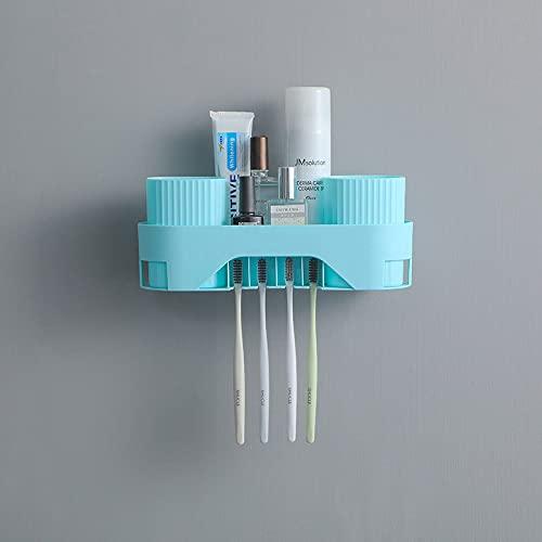 Estante de almacenamiento multifunción montado en la pared Artículos de tocador titular de pasta de dientes impermeable estante de almacenamiento para baño