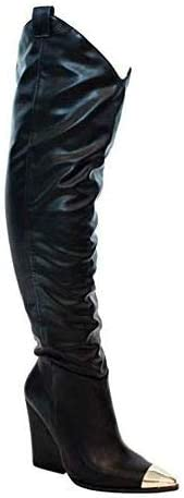 Liliana Western Pointed Max 77% OFF Slouchy Over High Boot Rare Thigh Knee