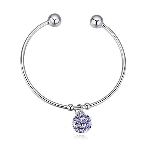 Armband Armbanden Polsband Crystal Open Armband Kleurrijke Bal Crystal Studded Hypoallergene Groene Armband@C