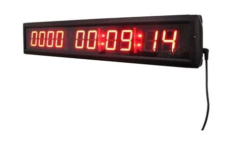 GOODRELIISH Red Color 1.8' 10 Digits LED Days Digital Countdown Clock Count up to 10000 Days with Hours Minutes Seconds IR Remote Control Aluminum Case