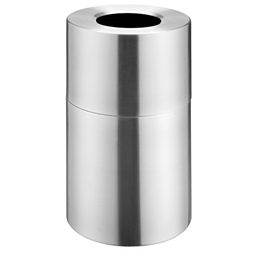 Global Industrial Aluminum Trash Container 35 Gallon Capacity Satin Clear