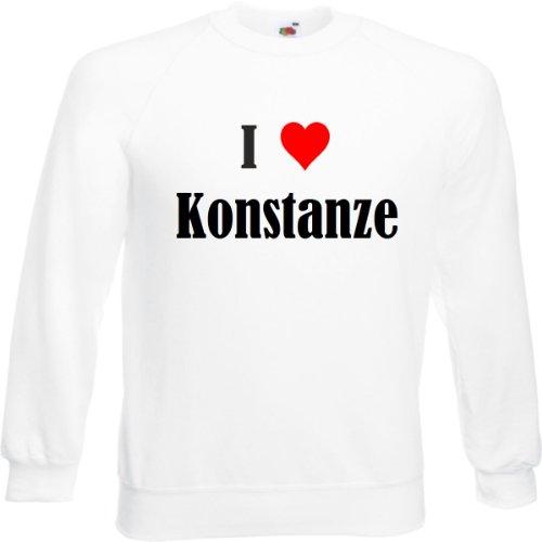 Reifen-Markt Sweatshirt I Love Konstanze Größe 2XL Farbe Weiss Druck Schwarz