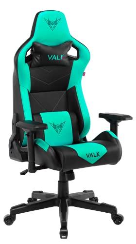 VALK Gaia - Silla Gaming, Silla Gamer, Ergonómica Reclinable 160º Reposabrazos 4D Transpirable, Silla Escritorio Silla Oficina (Verde Menta)