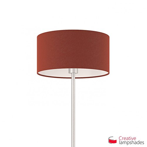Creative lampshades lampenkap cilinder purperrood canvas E27 voor staande hanglampen Durchmesser 50cm - H. 25cm