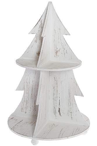 LaNatura Tannenbaum Etagere Emmi Holz Weiß