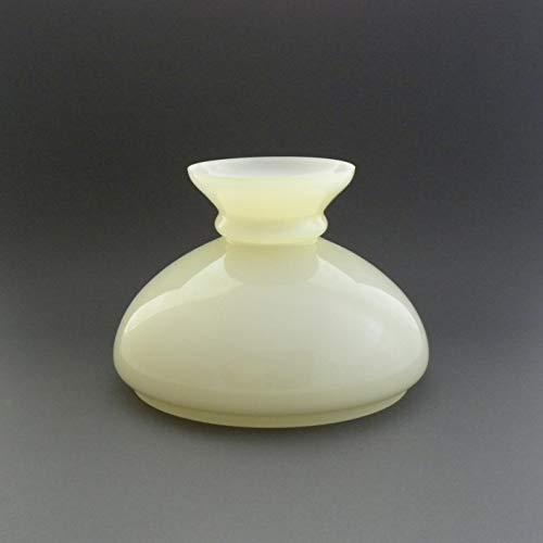 Vestaglas champagner glänzend, Durchmesser 18,6 cm, Ersatzglas, Lampenglas für Petroleumlampe, Lampenschirm aus Glas, elektrische Tischleuchte
