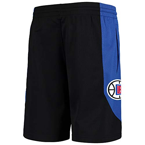 Outerstuff NBA Youth 8-20 Primary Logo Performance Practice Shorts (Youth - Small, Los Angeles Clippers Black)