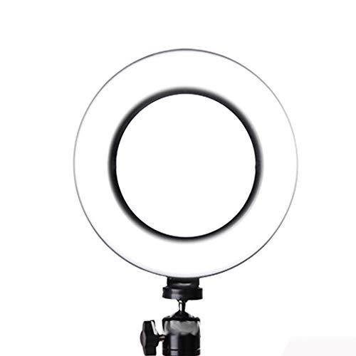 ZJING Universal LED 10 Zoll Ringlicht Mit Handy Schlauchklemme, Farbtemperatur 2700K-5500K Dimmbare Helligkeit Geeignet Für Handy Live, Make-Up,M