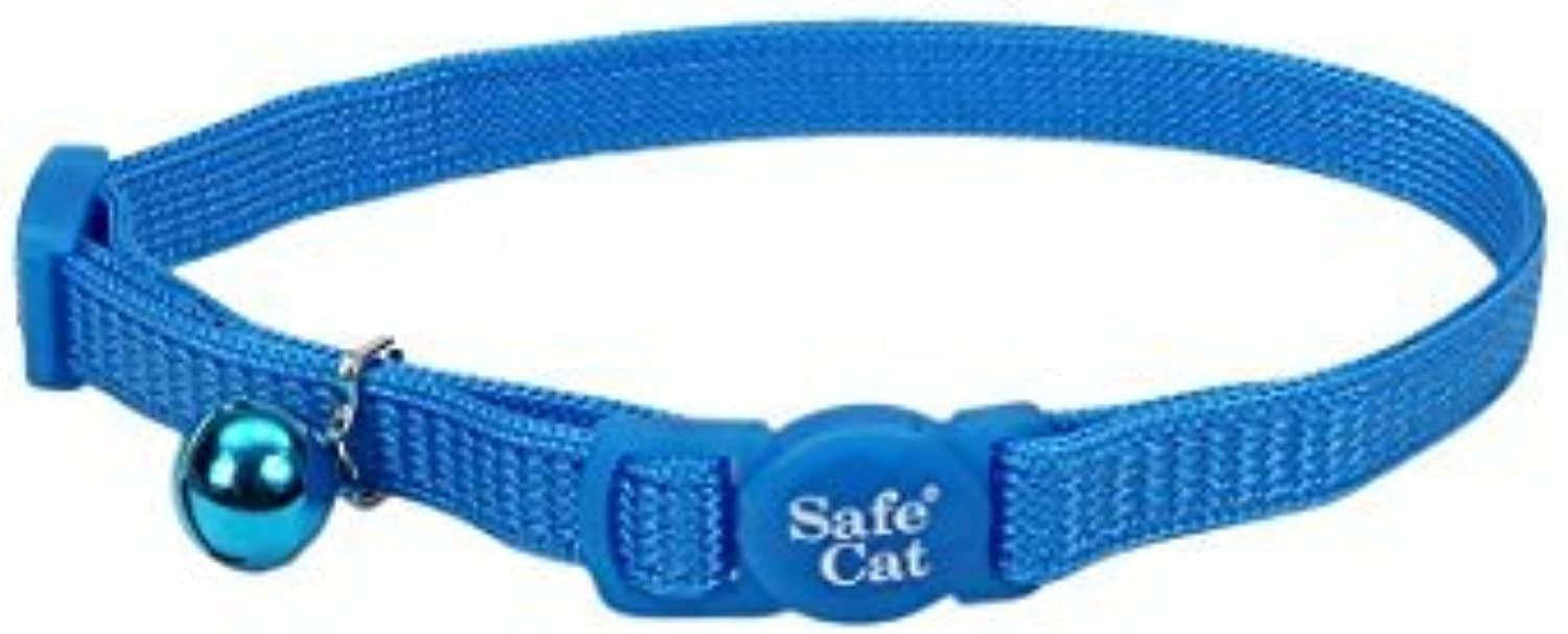 Coastal Pet Products Nylon Safe Cat Adjustable Breakaway Collar with Bells, (adjustable, Light bluee) by Coastal Pet