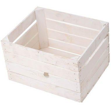 6er-Paket weiße massive Obstkisten +++ weiß, zum Möbelbau