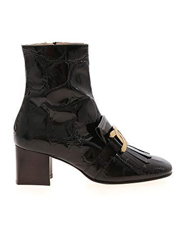 Tod's Luxury Fashion Damen XXW71C0DH90XLXB999 Schwarz Leder Stiefeletten | Herbst Winter 20