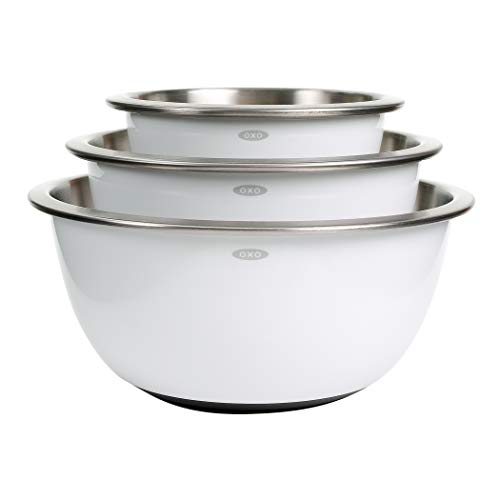 3-Piece Stainless-Steel Mixing Bowl Set