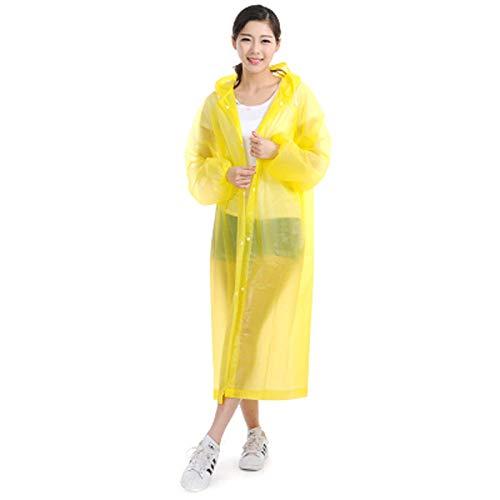 QPYJ Giacca Antipioggia Impermeabile Impermeabile Trasparente Uomo Rain Cover Camping Impermeabile Impermeabile Poncho Antipioggia-Giallo_Taglia Unica