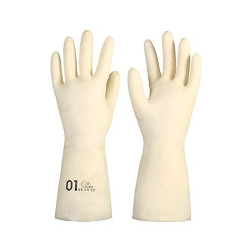 HUACHEN-CHAO Arbeitshandschuhe Durable wasserdichte Handschuhe Langlebige Ningqing Küchenreinigungshandschuhe, 1 Paar Nützliche Handschuhe (Color : L/1, Size : M)