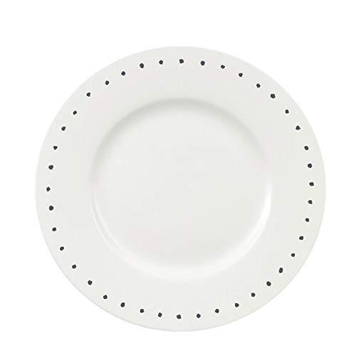 Oroley - Vajilla Porcelana Completa Hydra   19 Piezas   Moderna   Blanca   Platos   Original