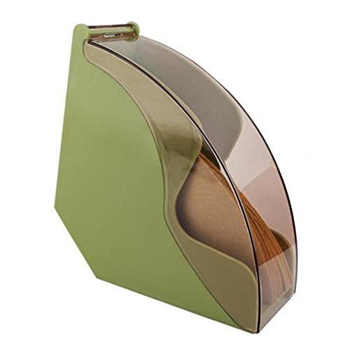 Staubdichter Acryl-Handtropfender Kaffeefilter Papiervorratsbehälter Halter Gestell Kaffeewerkzeuge Staubdicht Mit Deckelgrün