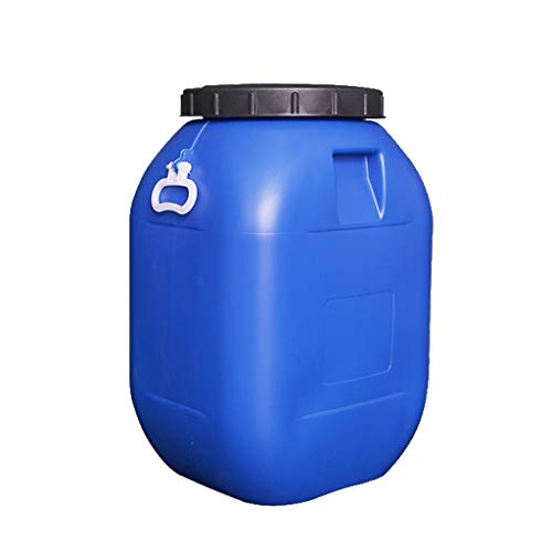Tanque De Agua De 60L con Sello De Tapa, Barril Químico Grueso De Plástico/Barril De Vino/Fermentador, Contenedor De Almacenamiento De Agua For El Hogar JNCSX (Color : Blue)
