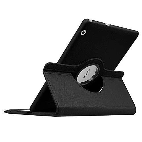 LIUCHEN Funda para tablet Huawei Mediapad T5 10 T3 9.6 '8 7.0 Wifi BG2-W09 AGS-W09/L09 KOB-L09/W09 360 Funda giratoria de piel sintética, color negro, T3 7.0 (Wifi) BG2, W09