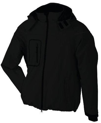 James & Nicholson Herren Jacke Softshelljacke Winter schwarz (black) XX-Large