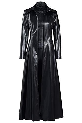 NoryNick Selene Cosplay Kostüm Outfit Halloween Mantel Overall Komplettes Set für Frauen Gr. M, Schwarz