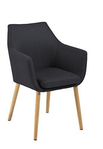 designbotschaft: Stockholm Stuhl Dunkelgrau / Eiche - Esszimmerstühle 1 Stck