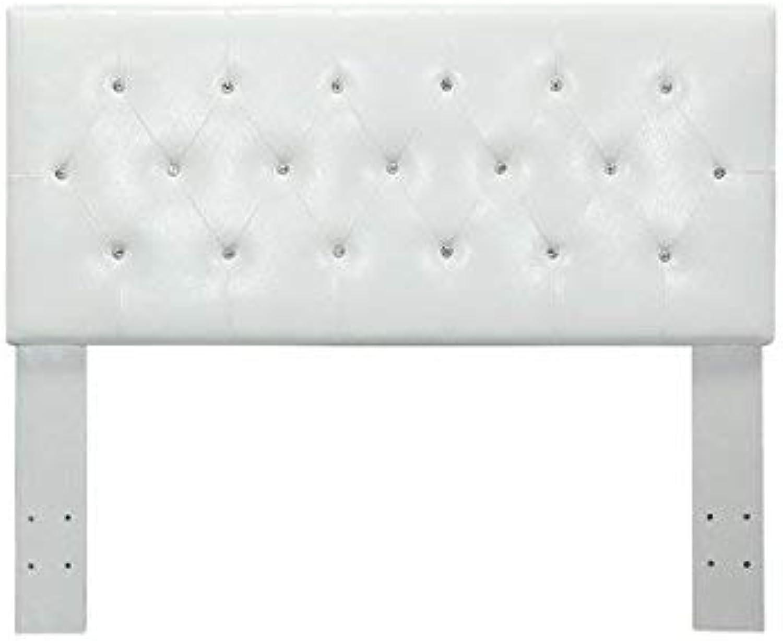 Benzara BM123746 Queen, White Vellen II Contemporary Headboard