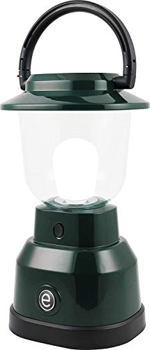Enbrighten 11016 LED Lantern, Battery Operated, Bright White Finish, 500 Lumens, 180 Hour Runtime, 3 Light Levels, Ideal for Outdoors, Camping, Hurricane, Storm, Tornado & Emergency, Green | 4D