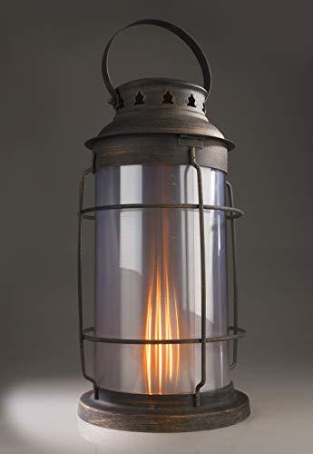 Metalen lantaarn met vlameffect