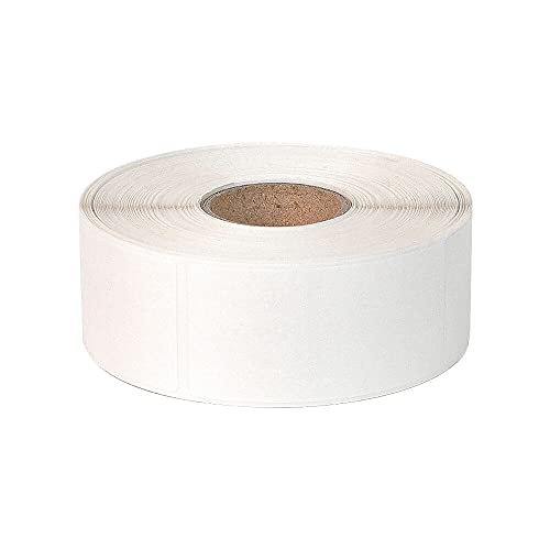 Rectangle White Dissolvable Labels 3/4 x 2 inch No Residue Labels, Sticker Per Roll Labels 500