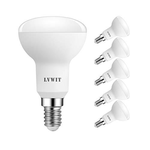 LVWIT LED Reflektorlampe E14 R50, 470 lm, Warmweiß 2700K, 5W ersetzt 40W Glühbirne, matt (6er Pack)