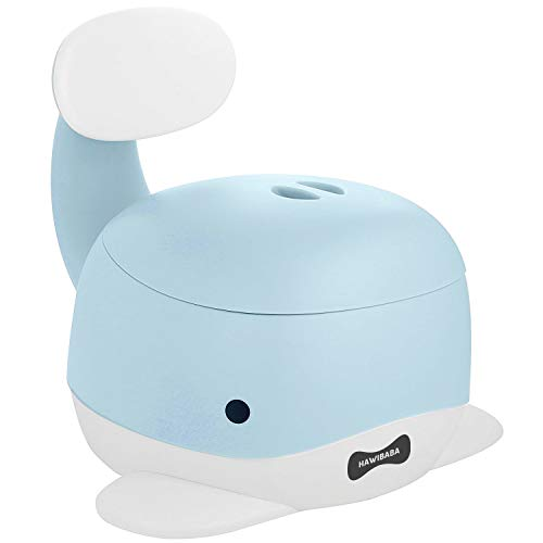Vasino Portatile per Bambini, Wc Toilette Pipi con Seduta Ergonomica, Antiscivolo, Pratico, Design Balena Azzurro Hawibaba