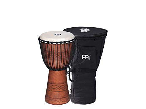 "MEINL Percussion マイネル ジャンベ Original African Style Rope Tuned Wood Djembe 10"" Brown ADJ2-M+BAG (バッグ付き) 【国内正規品】"