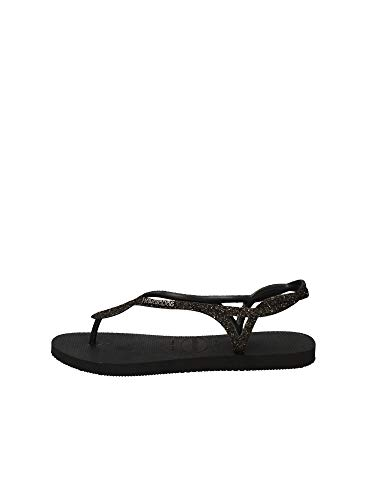Havaianas Luna Premium Flip Flops Women Black - 5.5/6.5 - Flip Flops Shoes