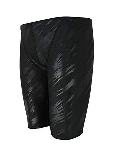 Srnfean Men`s Swimming Jammers Endurance+ Quick Dry Swimsuit Black Stripe Medium