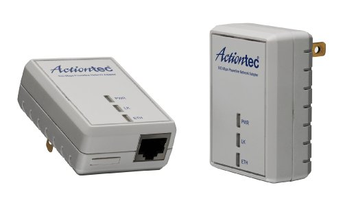 Actiontec PWR511K01 500 Mbps HomePlug HD Powerline Wall Plug Network Adapter Kit (2 Units)