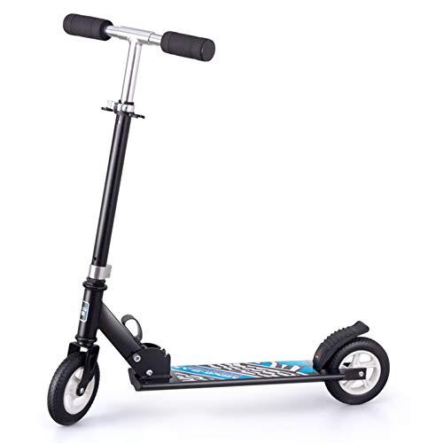 HYE-SPORT Kick Scooter Plegable de aleación de Aluminio, 2 Ruedas, Patinete de Altura Ajustable, Planeador de Lujo con pie de Apoyo para niños de 5 años en adelante (máximo 220 Libras)