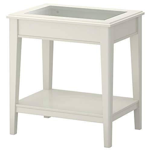 LIATORP - Mesa Auxiliar (Cristal), Color Blanco