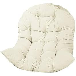 Coussin pour fauteuil suspendu, balançoire, coussin de chaise en rotin (sans chaise suspendue), blanc