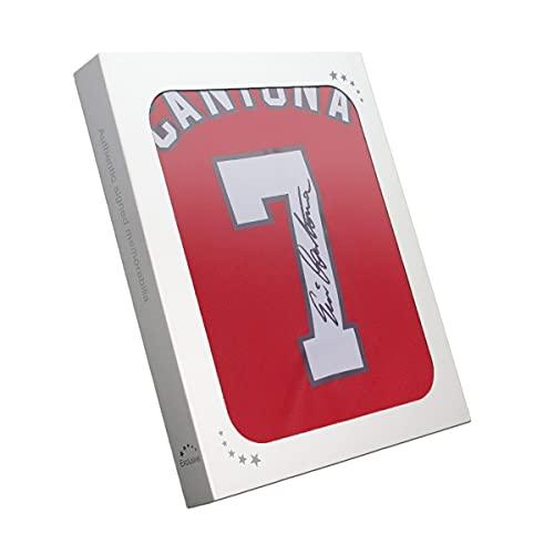 Exclusive Memorabilia Manchester United Trikot von Eric Cantona signiert. 2019-21. Geschenkbox