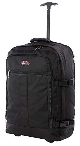 CABIN GO MAX 5520 Trolley Zaino bagaglio a mano/cabina da viaggio leggero con Ruote e Tracolle a Scomparsa, Valigia Borsa da cabina 55x40x20 cm 44 litri. Approvato volo IATA/EasyJet/Ryanair