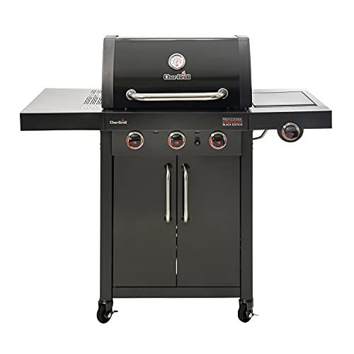 Char-Broil 3 Burner Gas BBQ + 1 Side Burner Barbecue - Professional Black Edition 3500