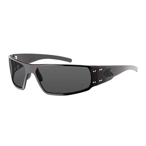 Gatorz Eyewear, Magnum Model, Aluminum Frame Sunglasses - Blackout Tactical Style/Smoked Polarized Lens