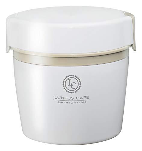 アスベル 保温ランチジャー ホワイト 500ml ランタス カフェ丼ランチ HLB-CD500