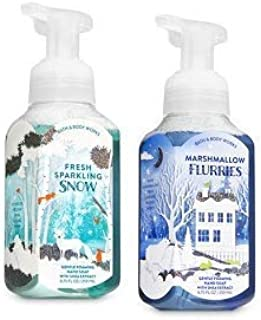 Bath and Body Works 2 Gentle Foaming Hand Soap. Fresh Sparkling Snow & Marshmallow Flurries 8.75 Oz.