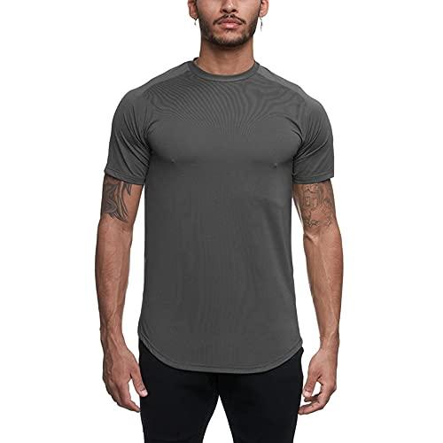Camiseta Deportiva, Camiseta Hombre de Manga Corta Secado Rápido Ropa para Fútbol Correr Camiseta Gimnasio Transpirable y Cómoda Ropa Deportiva Hombre Camiseta