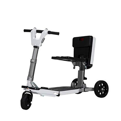 WLWLEO Tragbare Falten Elektromobilität Roller für senioren Behinderte 3 Wheeled Electric Vehicle Höchstgeschwindigkeit 15 km/h 35KM Distance Running Adult Outdoor Leisure Elektro-Dreirad